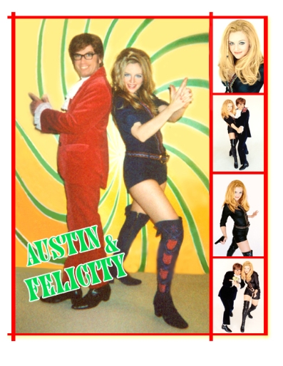Felicity Shagwell and Austin Powers Impersonators Lookalikes