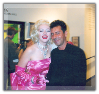Marilyn Monroe Impersonator at Hollywood Entertainment Museum Exhibit