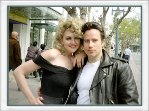 Sandy and Danny from Grease, Olivia Newton John Lookalike Impersonator